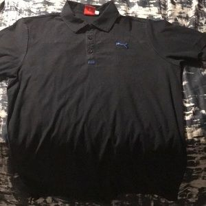 Black/Blue Puma Polo